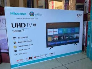 Smart Tv Hisense 55 Polegadas UHD 4K 55A7100F 2020 Seladas Entregas e Garantias