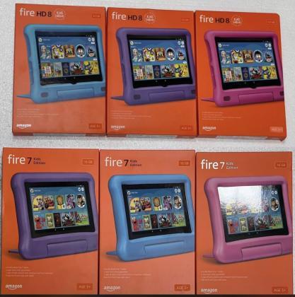 Amazon Fire  7 16gb / Amazon Fire 8 32gb : Kids tablet
